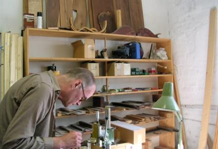 Hans Reichel in his Studio