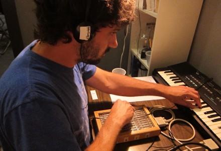 Nat Baldwin playing the keys